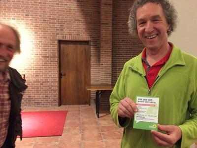 Dr. Michael Fischer freut sich über den rundum gelungenen Abend!