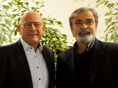 Minister Winne Hermann mit Landtagskandidat Wolf Hoffmann
